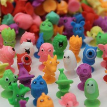 100Pieces/Lot Action Animal Figures Sucker Toys Good Couple Kids Cartoon Mini Suction Cup Collector Capsule Model For Kid Toy
