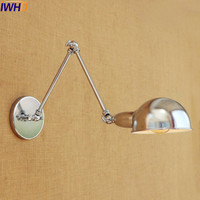 IWHD Silber Retro Vintage Wandleuchte LED Wandlampen Schaukel Langen Arm Wandleuchte Loft Industrie Lichtleuchte Appliques Murales