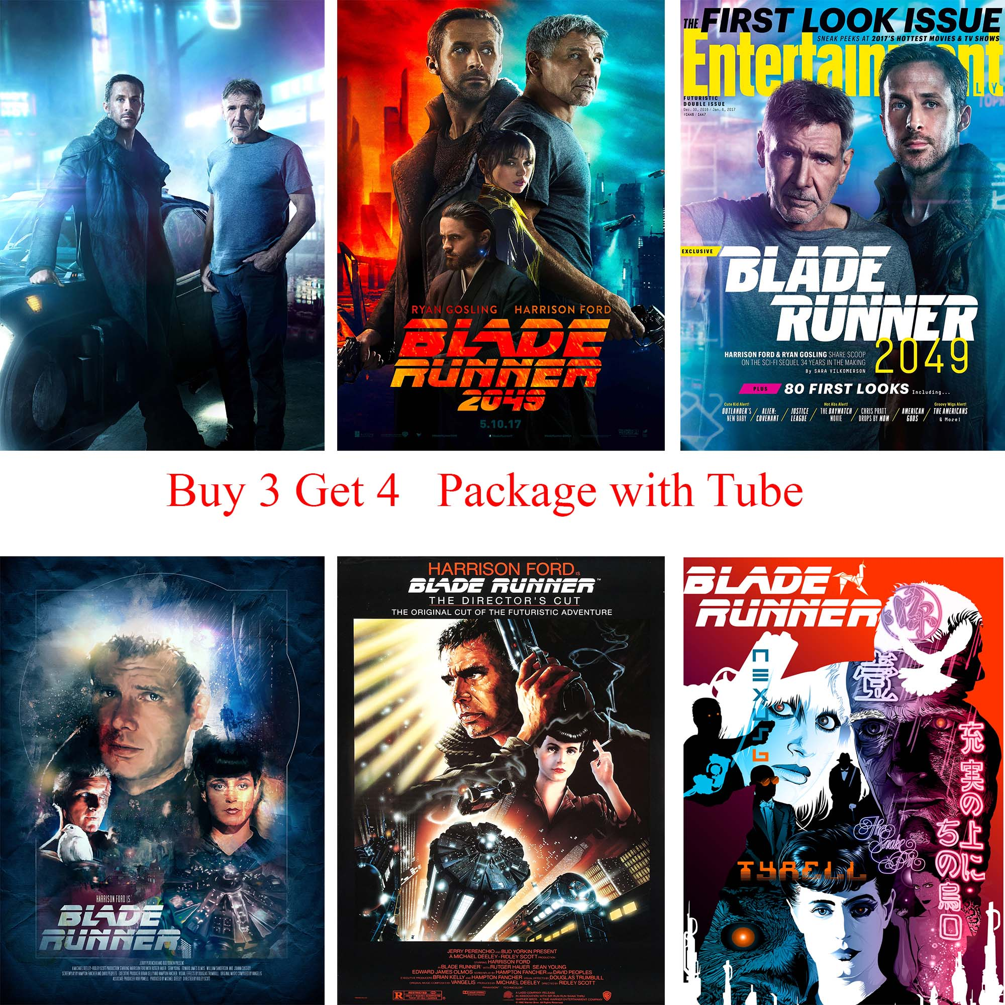 Blade Runner 2045 Posters White Coated Paper Prints Wall Stickers Home Decoration Modern ...
