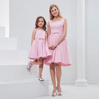 Children Kids Woman Clothing Girls Mother Daughter Family Matching Outfits Birthday Party Stage Show Bows Princess Dress WT662