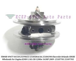 Turbo CHRA rdzeń wkładu K03 49477-01510 25185864 25185866 25184398 25187701 25187703 dla CHEVROLET CRUZE ORLANDO Z20D1 2.0 CDI