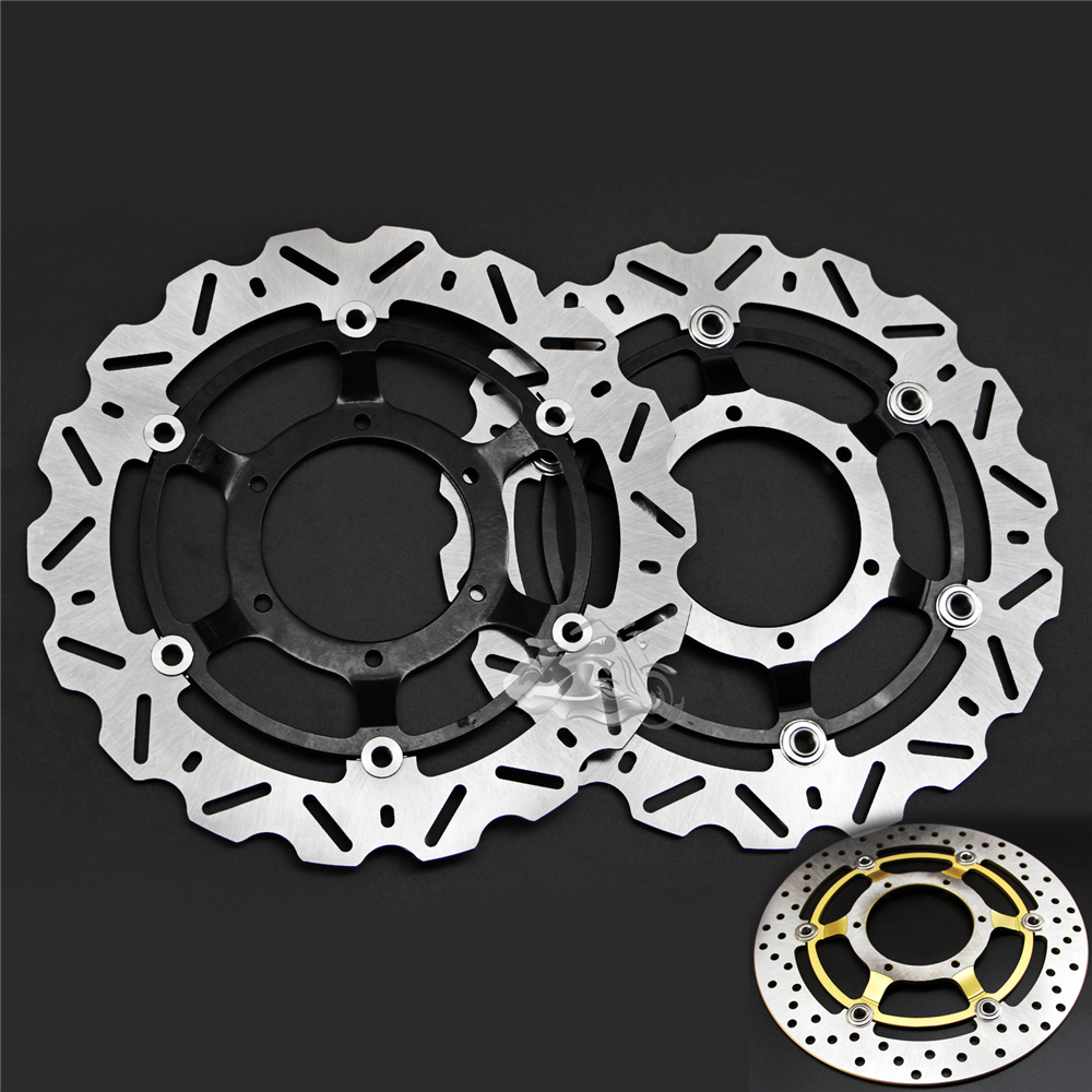 Floating Front Brake Disc Rotor For Motorcycle Honda VTX1800C VTX1800R VTX1800S VTX1800F VTX1800N VTX1800T 02-11 296mm motorcycle front wavy floating brake disc rotor for honda cbr600f4i cbr600f cb919f vtx1800 vtx1800f vtx1800n vtx1800t