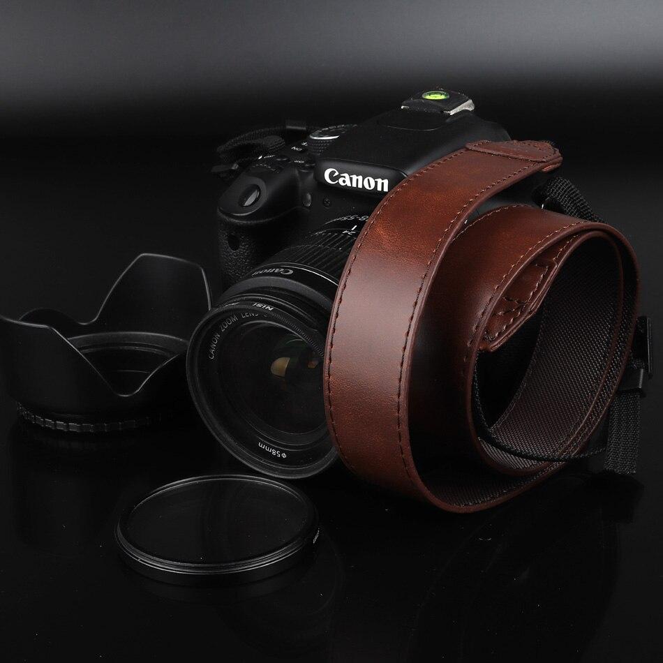 Aliexpress com : Buy Universal Adjustable Camera Strap Cotton Leather  Camera Shoulder Strap For Canon 800D 750D 1300D 200D 77D 80D 60D 1200D 6D  5D 7D
