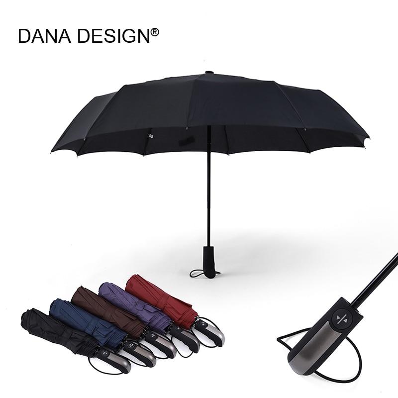 10 ребра ветра автоматический складной зонт ветрозащитный Большой дождь Зонты для Для мужчин и Для женщин Путешествия Зонтик