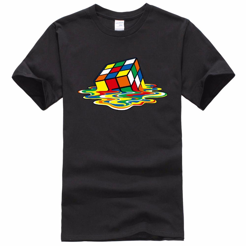 New Design The Big Bang theory T Shirt Men Magic Square T Shirts Short sleeve Sheldon Cooper Men T-shirts Cotton Men Clothing