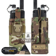 Emerson Tactical MOLLE MBITR PRC148 152 Radio Pouch Coyote Brown Walkie Talkie Pocket w/ Release Buckle for Attaching RRV Vest