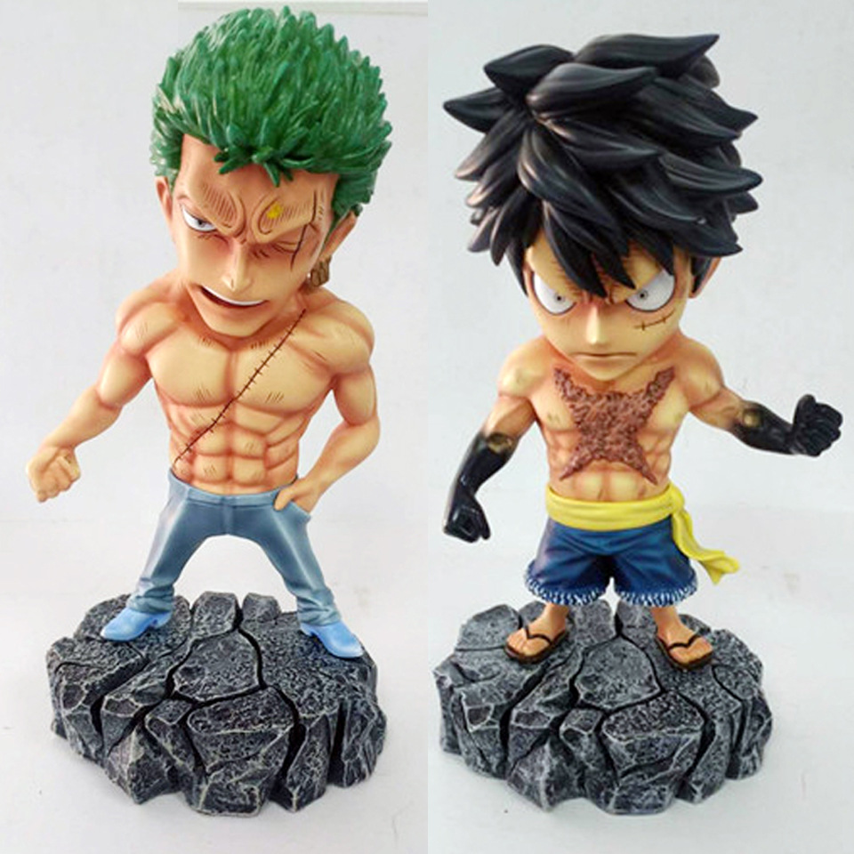 Anime One Piece Underworld Roronoa Zoro Monkey D Luffy with Tattoo PVC Action Figure Toys 15cm one piece action figure roronoa zoro led light figuarts zero model toy 200mm pvc toy one piece anime zoro figurine diorama