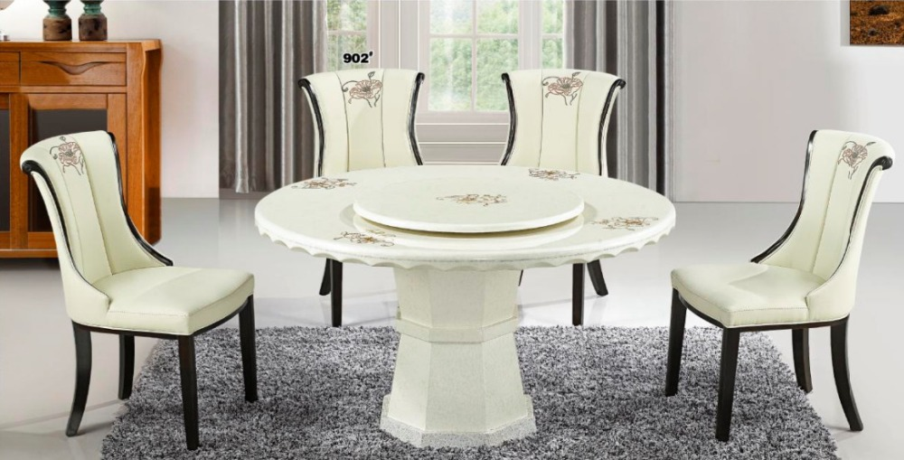 Popular Modern Round Marble Top Dining Table In Dining