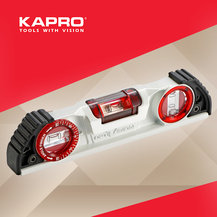 Free Delivery Kapro 935 OPTIVISION Red Torpedo 10 (25cm) Magnetic Cast Aluminum Level free delivery 811600 4623