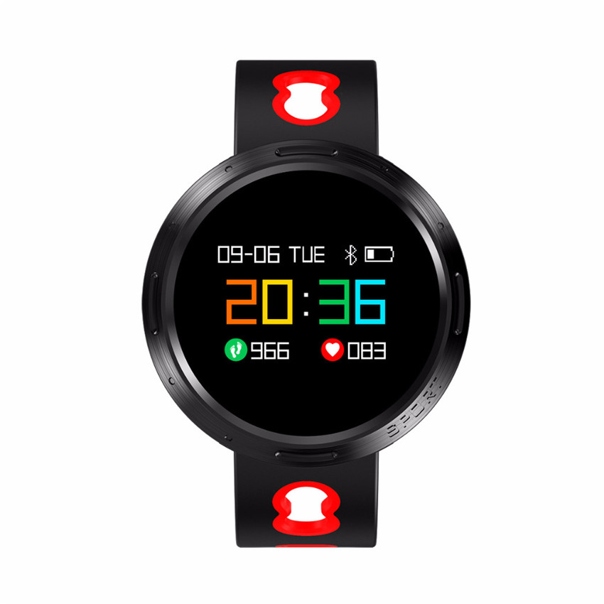 2018 Metal 360 Color Smart Watch Swim IP68 Heart Rate Pulse/Blood Pressure/Oxygen Monitor Health For IOS/MOTO/Huawei PK