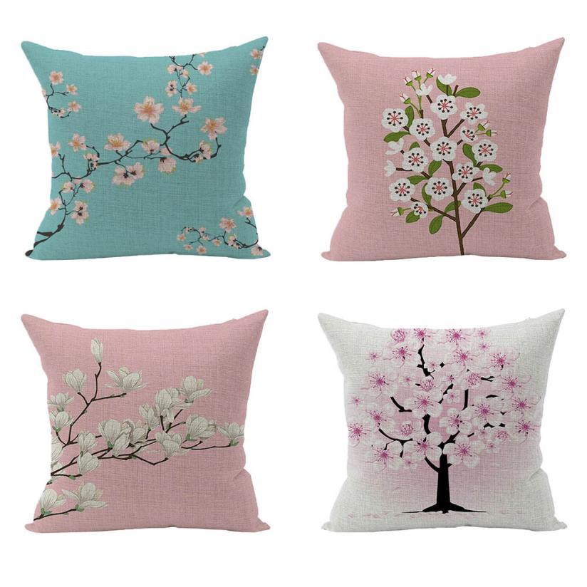 2018 Pillow Case 45*45 Vintage Retro Cotton Linen Waist Throw Pillow Case Cushion Cover Home Sofa Decor Free Shipping NEW DE22