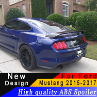For Ford Mustang 2015 2016 2017 High quality ABS big spoiler black or white or prime car rear spoiler for Ford Mustang