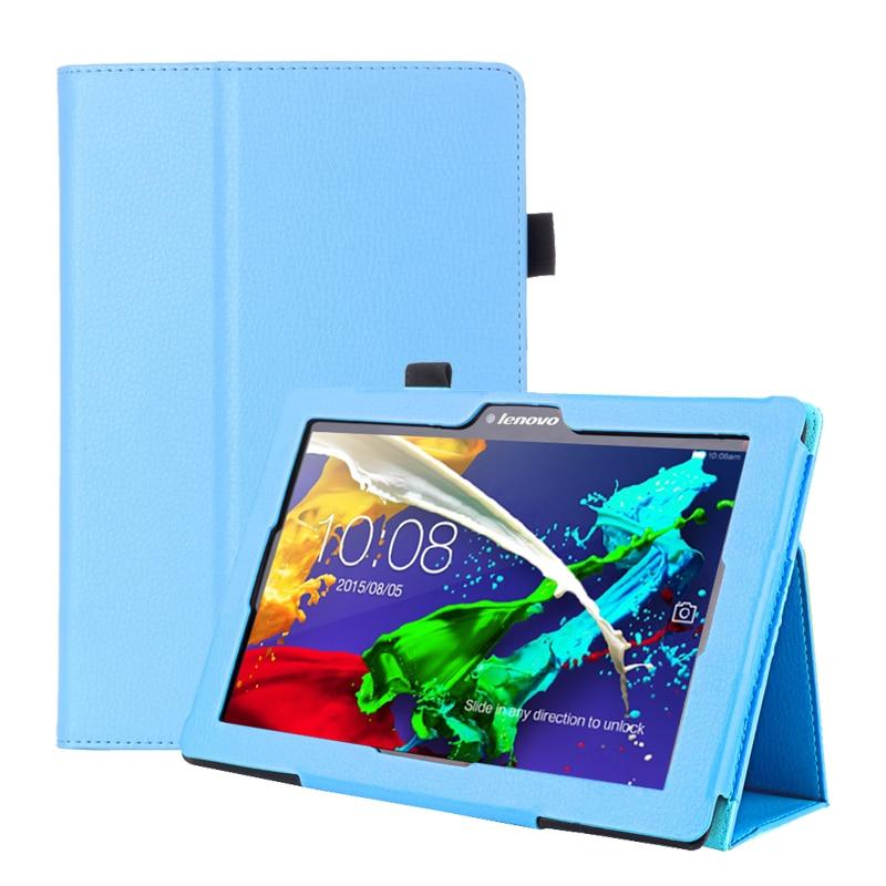 Caso para lenovo tab2 a10-70 A10-70F/l a10 70 smart flip capa de couro para lenovo tab 2 A10-70L tablet 10.1 tablet tablet caso fundo