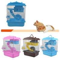 Cage pour animaux Cage Hamster Cage Hamster maison Double couche maison pour Hamster Pet 1PC
