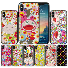 Murakami Takashi Sunflower Weiche Anti-knock Silikon Fall Abdeckung für iPhone X XS XR XS 11 11Pro Max 7 8 6 6S 5 5S 5C SE Plus Abdeckung(China)