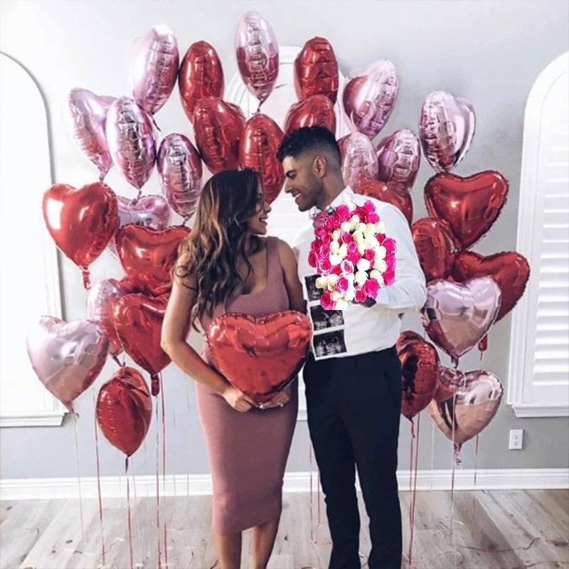 US $1.17 35% OFF|10pcs/set 18inch Wedding Heart Ballon For Wedding Party Helium Heart Balloon For Bride Ball Baloon Anniversary Decor Supplies XN-in Ballons & Accessories from Home & Garden on Aliexpress.com | Alibaba Group