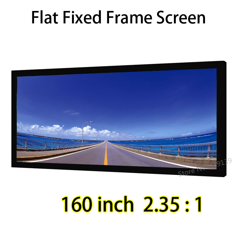 DHL Shipping 160inch 2.35 By 1 Ratio Fixed Frame Screen With Black Velvet Compatible For BenQ InFocus Projector mcs 47335 multi purpose frame 14 by 18 inch black
