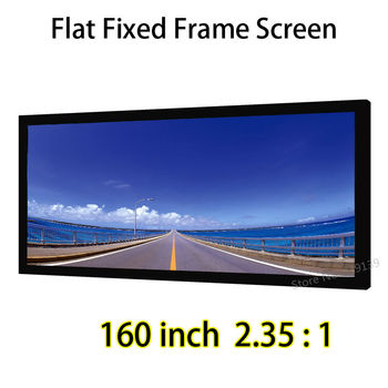 DHL Shipping 160inch 2.35 By 1 Ratio Fixed Frame Screen With Black Velvet Compatible For BenQ InFocus Projector
