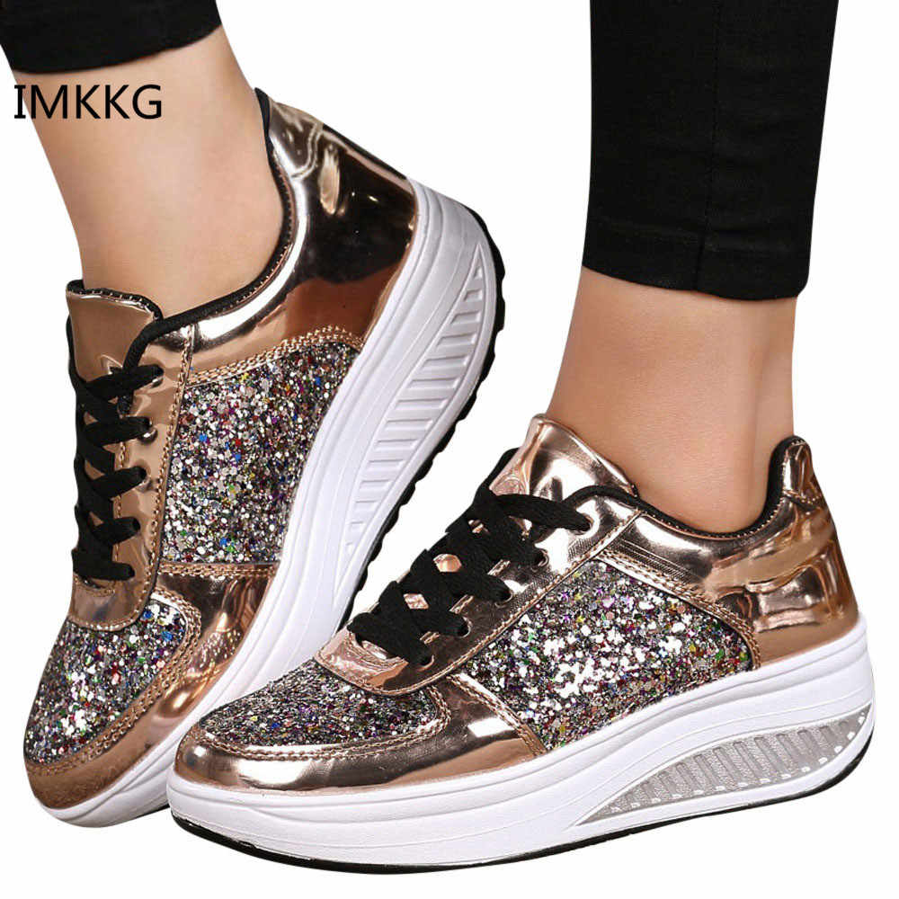 Hot Women Sneakers 2018 Breathable Waterproof Wedges Platform Vulcanize Shoes  Woman Pu Leather Women Casual Shoes afdb964a7783