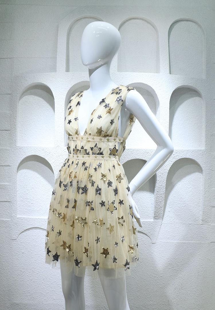 HTB1TxatPFXXXXaQXVXXq6xXFXXXU - Summer Dress  Star Beads Jacobs Deep V JKP064