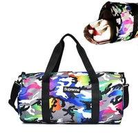 Love Pink Girl Gym Bag Waterproof Canvas Women Fitness Crossbody Bag Sport Camouflage Men Shoulder Bag Large Capacity Travel Bag