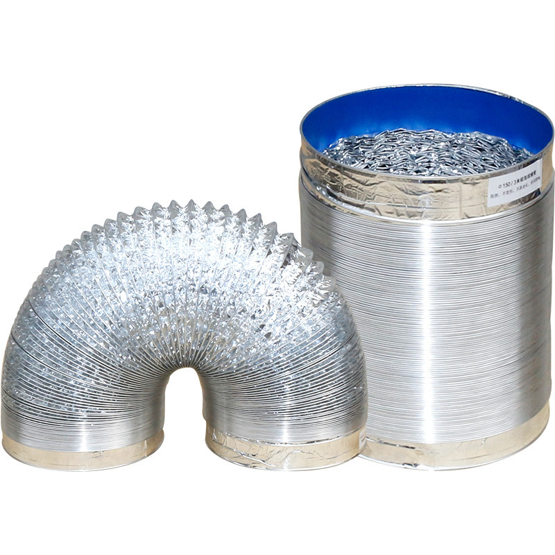 4inch Aluminum Foil Tube Flexible Ventilation Hose Pipe Air Vent System For Kitchen, Toilet, Hydroponics Extractor Fan Duct