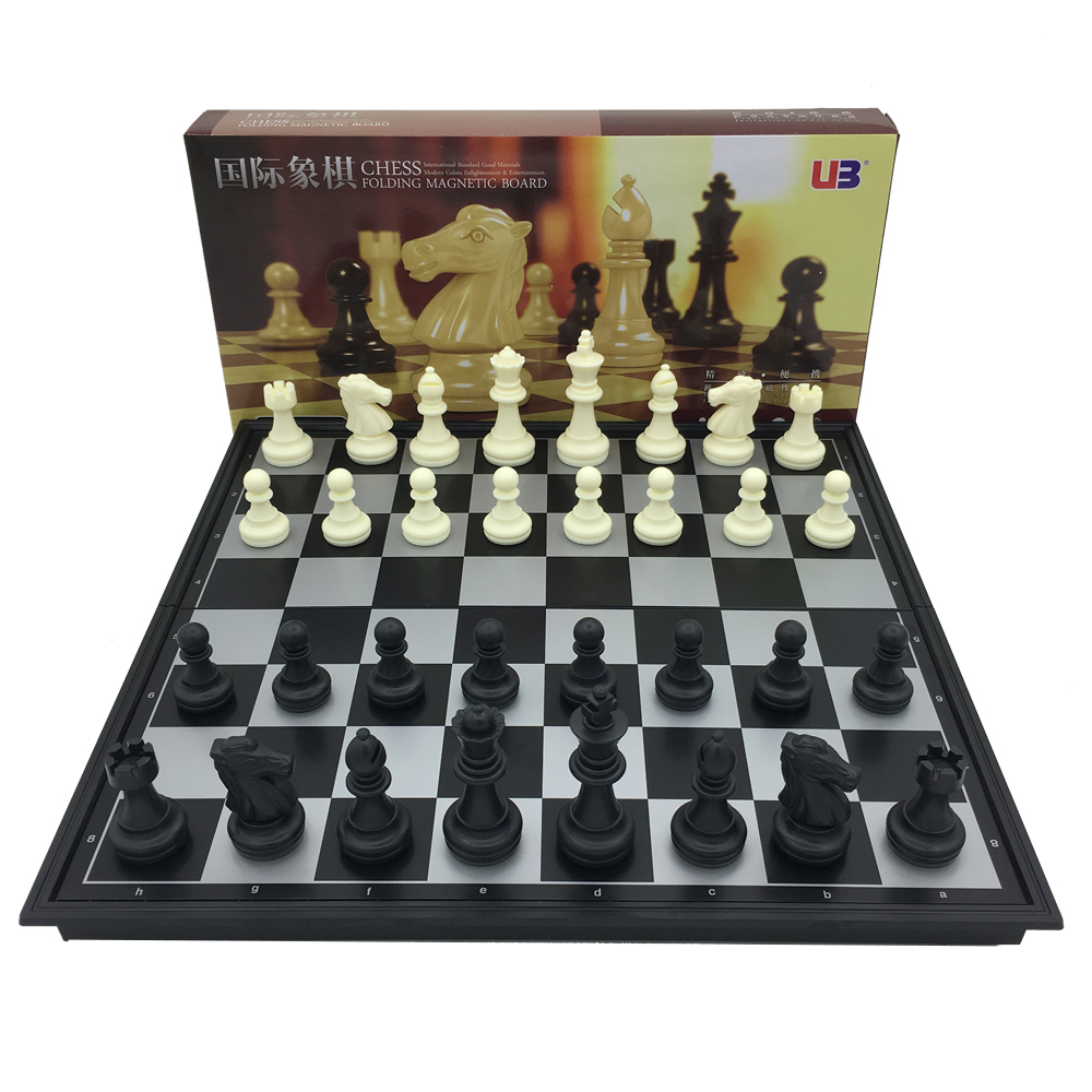 Chess Table King 6.6 cm Height Magnetic & Folding Board Size 32 cm x 32 cm Chess Tournament Larger Chess Set Gifts For Men