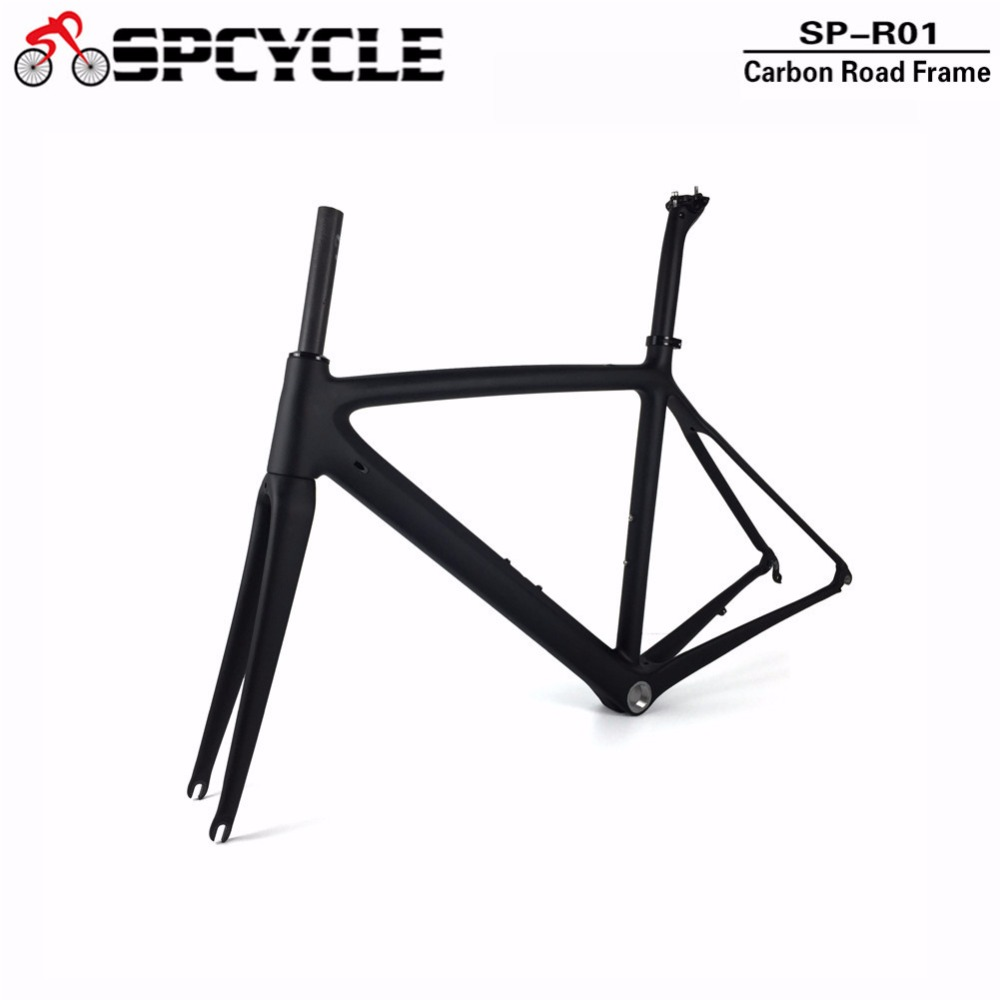 купить Full Carbon Road Bicycle Frames ,T1000 Cycling Carbon Bike Road Frames, Racing Carbon Bike Frame+Fork+Seatpost 50/53/55cm Size по цене 25839.05 рублей