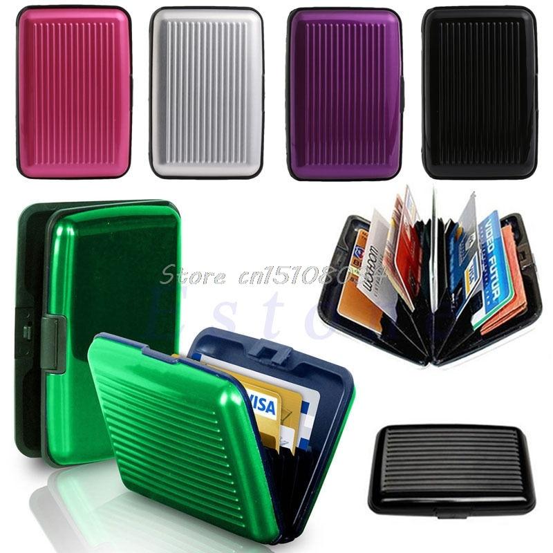 Waterproof Aluminum Metal Pocket Case Box Business ID Credit Card Wallet Holder