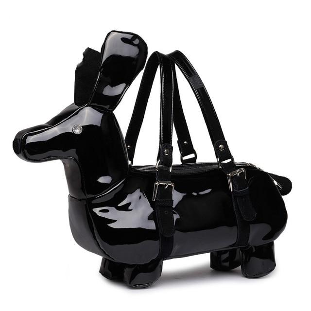 Brand High Quality Fashion Cute Dog Shape Handbag Dachshund Las Novety Shoulder Bag