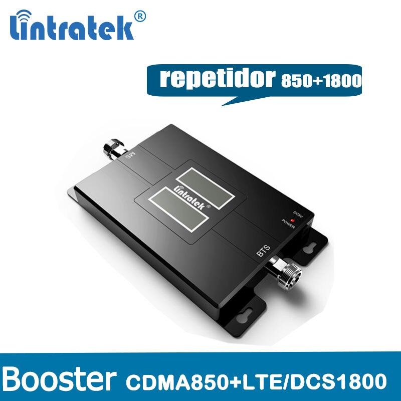 Repetidor CDMA GSM 850 MHz DCS 1800 Repetidor De Sinal de Banda Dupla 2G 3G 4G Signal Booster 3G LTE 850 + 1800 mHz (Banda 3 & 5) celular @ 4.8