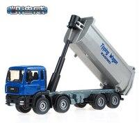 1 PC 17cm Device Alloy Alloy Dumper Truck Model 1 50 Dump Trucks Toys Children Gifts