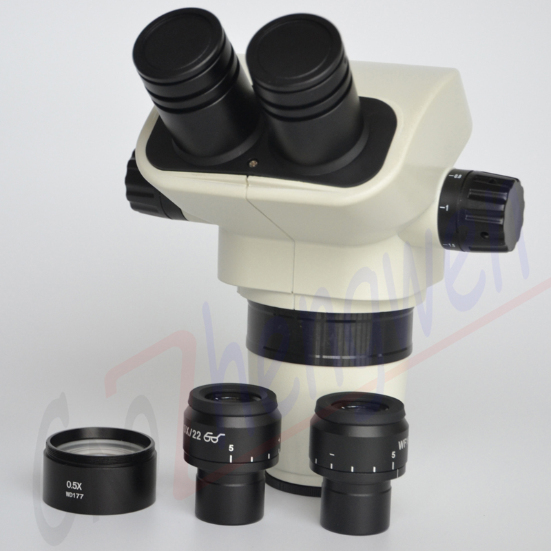 FYSCOPE Microscope Head 3 35X 45X Binocular Stereo Zoom Microscope Head with Focusable Eyepieces