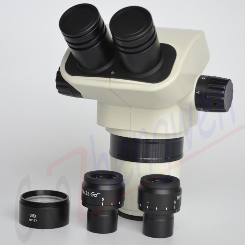 FYSCOPE Microscope Head 3 35X 45X Binocular Stereo Zoom Microscope Head with Focusable Eyepieces