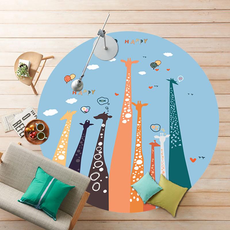 Schne Giraffe Runde Teppich Super Weich Runden Wohnzimmer Kinder Kid Schlafzimmer Tapetes Durchmesser 80