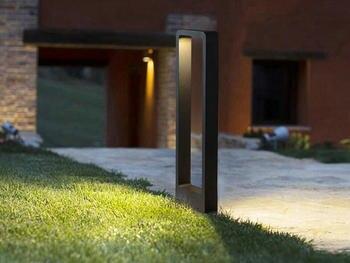 Rettangolo di Disegno Prato Inglese HA CONDOTTO LA Lampada 15W Cortile di Via Villa Impermeabile IP65 Paesaggio Luce Esterna del Giardino Della Lampada