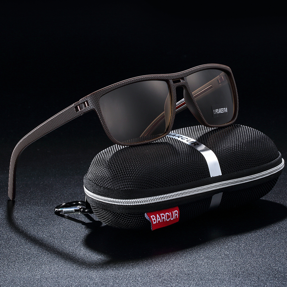 Image 2 - BARCUR Design Ultralight TR90 Sunglasses Men Polarized Driving Sun glasses Male Outdoor-in Men's Sunglasses from Apparel Accessories on AliExpress