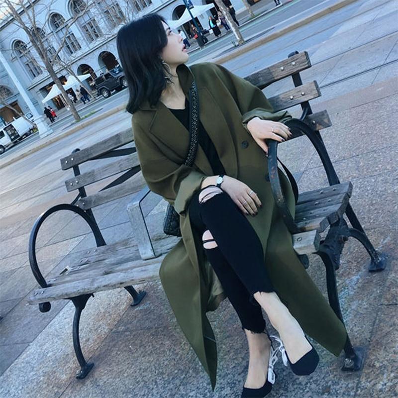 Printemps Nouvelle Femmes Lâche Version Coréenne Long Blousons Longue Manteaux Taille vent Femme De Et La Trench Grande Automne Coupe 5wtYqd