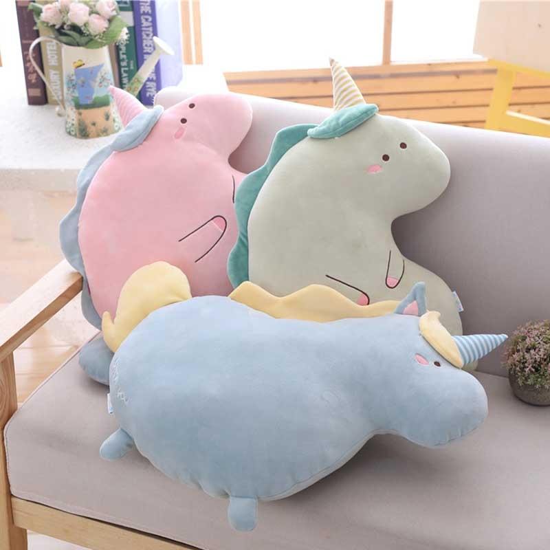 1pc 50x35cm 3 Patterns Lovely cartoon Unicorn pillows Plush Unicornio brinquedos for kids Xmas present Home