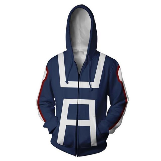 BING RUI CO 2019 Hot Sale My Hero Academia Cosplay Costume Winter Men and Women Hoodie My Hero Academia Midoriya Izuku Jacket