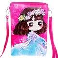 Pink Girls Crossbody Package Girls Cute PU Messenger Bag Kitty Queen Princess Single Shoulder Bag Kid Travel Casual gift pouch