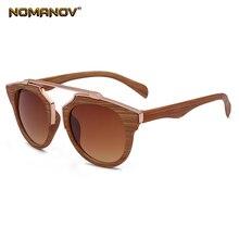 2019 Trend Wood Grain Retro Short Sight Sun Glasses Polarized Sunglasses Custom Made Myopia Minus Prescription Lens -1 To -6