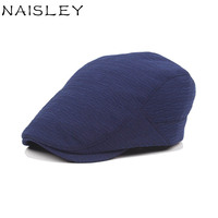 NAISLEY Brand Cotton Peaked Striped Pleated Adjustable Beret Outdoor Sun Breathable Lady Hat Women S Men