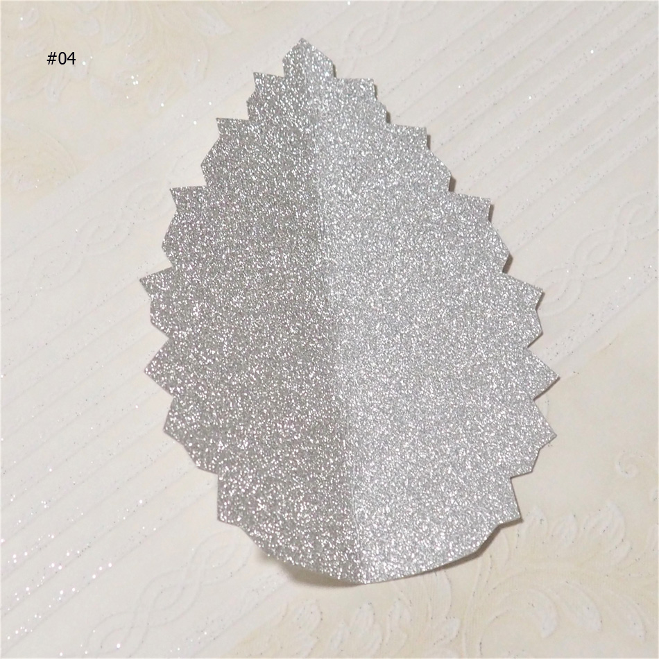 DIY Artificial Glittered Paper Flower Leaves Giant Paper Rose Leaves For Wedding Party Deco Baby Shower Backdrop Birthday Decor in Artificial Dried Flowers from Home Garden