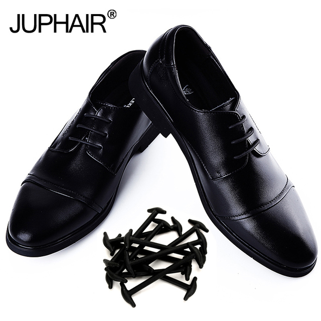 JUP 3 Sets/10pcs Boys Adult Leather Shoes Not tie Lazy Shoelaces Import Silicone Elastic Shoes Fashion Are colorful Shoestring