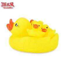 4 шт/лот Детские Игрушки для ванны желтые утки семейного душа