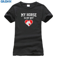 Cool T Shirts Online Design My Horse Is My Bff Gift For Horse Lovers Crew Neck