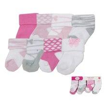 8 пар/лот Симпатичные детские носки для девочки, мальчики, дети, носки с цветочным рисунком для новорожденных, хлопковые носки для малышей