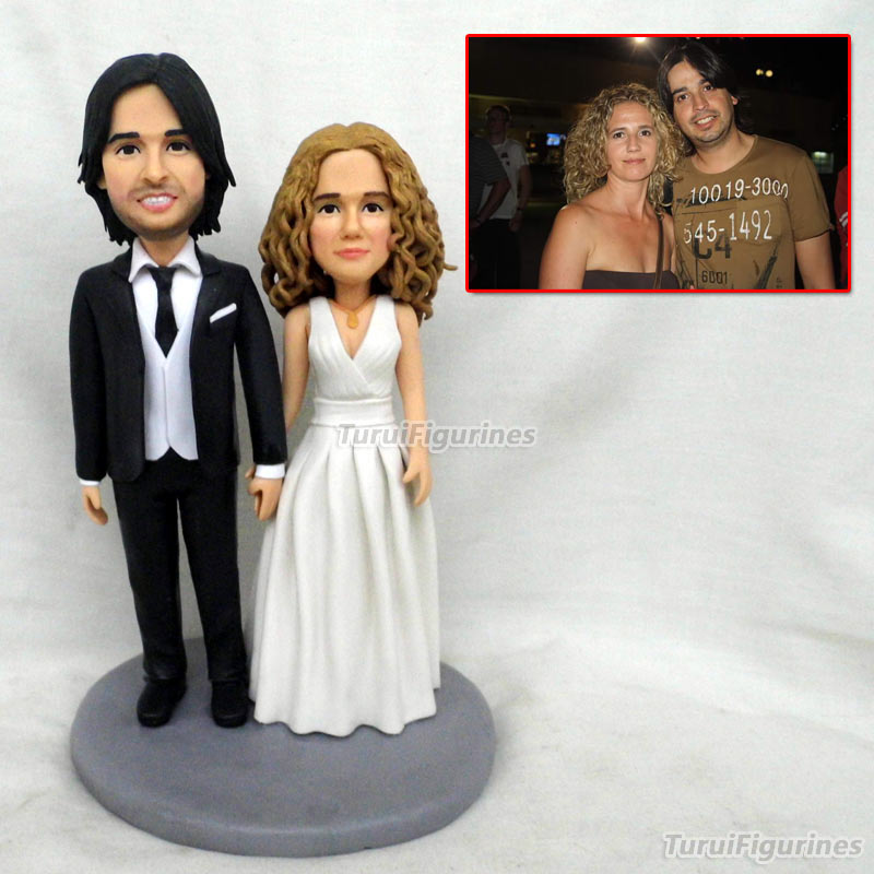 Gâteau de mariage Topper bobblehead Statue nfl fans personnalisé mariée marié stable chevaux gâteau de mariage Topper idée cadeau personnalisé