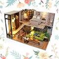 Миниатюрный Кукольный домик в скандинавском стиле  двухслойная кукольная мебель для рукоделия  игрушки для подростков  наборы для моделиро...